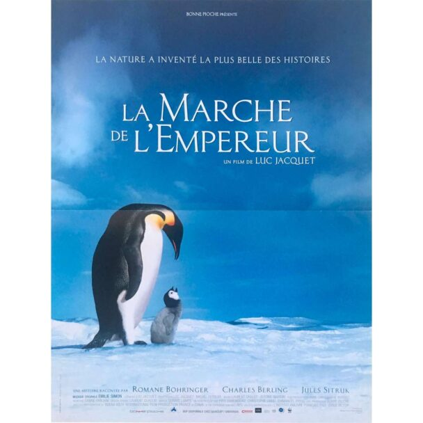 march of the pinguins original movie poster 15x21 in 2005 luc jacquet morgan freeman